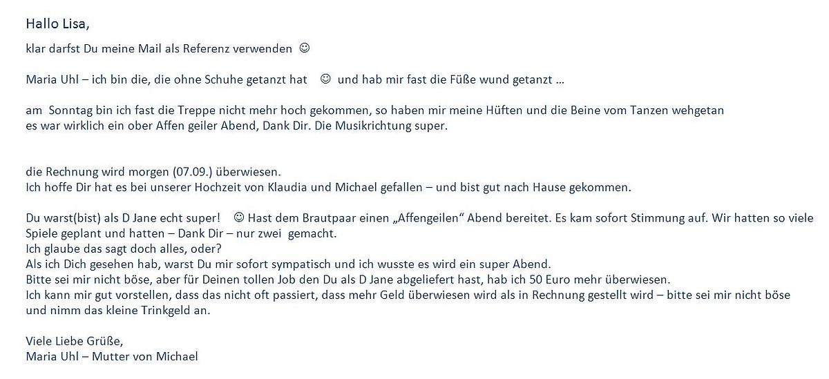 Referenzen Von Den Djs Bernd Nina Und Lisa Im Raum Nürnberg